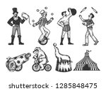 retro circus performance set... | Shutterstock .eps vector #1285848475