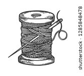 spool of thread and needle... | Shutterstock .eps vector #1285848478