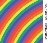 rainbow curved color lines... | Shutterstock . vector #1285850728