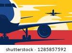 air traffic. flat style vector...   Shutterstock .eps vector #1285857592