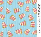 pattern cupcake vector | Shutterstock .eps vector #128586035