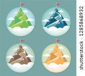 set of flag on the mountain... | Shutterstock .eps vector #1285868932