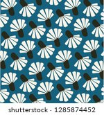 vintage simple flower pattern | Shutterstock .eps vector #1285874452
