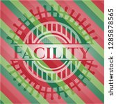 facility christmas emblem. | Shutterstock .eps vector #1285878565