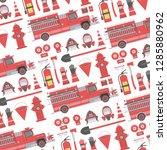 Seamless Pattern With Fireman...