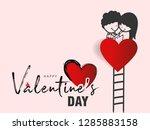 abstract typography happy... | Shutterstock .eps vector #1285883158