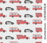 seamless pattern with fire... | Shutterstock . vector #1285885828