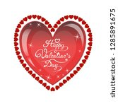 happy valentines day romantic... | Shutterstock .eps vector #1285891675