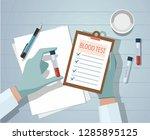 hands a medical doctor holding... | Shutterstock .eps vector #1285895125