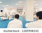 jiu jitsu exercise training for ... | Shutterstock . vector #1285908142