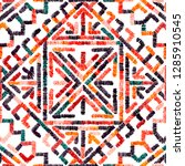 embroidered seamless geometric... | Shutterstock .eps vector #1285910545