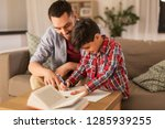 education  family and homework... | Shutterstock . vector #1285939255