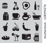 Set of food icons - vector illustration