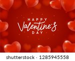 valentines day background with... | Shutterstock .eps vector #1285945558