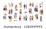 bundle of couples dressed in... | Shutterstock . vector #1285949995