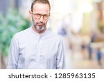 middle age hoary senior man... | Shutterstock . vector #1285963135