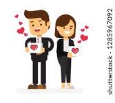 funny love in social media and...   Shutterstock .eps vector #1285967092