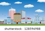 street of the city. raster... | Shutterstock . vector #128596988