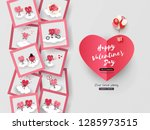 love story in photo 3d paper... | Shutterstock .eps vector #1285973515