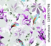 seamless floral background... | Shutterstock .eps vector #1285975798