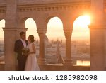 beautiful wedding couple posing ... | Shutterstock . vector #1285982098