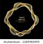 golden brand design. abstract... | Shutterstock .eps vector #1285983595
