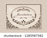 premium invitation or wedding... | Shutterstock .eps vector #1285987582