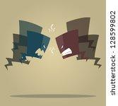 conflict speech bubbles   Shutterstock .eps vector #128599802