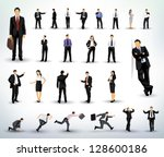 collection of business people... | Shutterstock .eps vector #128600186