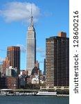 new york city manhattan... | Shutterstock . vector #128600216
