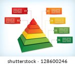presentation template with a... | Shutterstock .eps vector #128600246