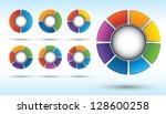 segmented and multicolored pie... | Shutterstock .eps vector #128600258