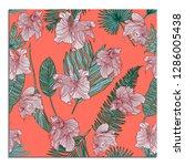 trendy summer card with... | Shutterstock .eps vector #1286005438
