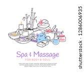 spa treatment massage salon... | Shutterstock .eps vector #1286006935
