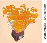 shaker with orange juice | Shutterstock .eps vector #1286016385