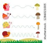 snail worksheet vector design | Shutterstock .eps vector #1286021005