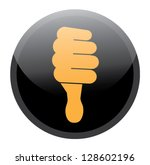 Thumbs Down Hand Vector