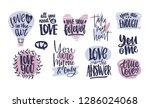 bundle of trendy valentine's... | Shutterstock . vector #1286024068