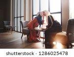 muslim woman wearing hijab... | Shutterstock . vector #1286025478