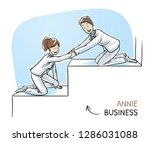 happy business team  men and... | Shutterstock .eps vector #1286031088