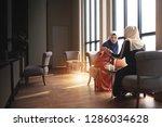 muslim women wear hijab... | Shutterstock . vector #1286034628