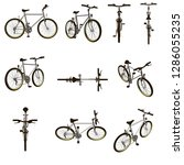 set with a bicycle. detailed... | Shutterstock .eps vector #1286055235