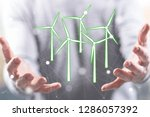 clean energy concept above the... | Shutterstock . vector #1286057392