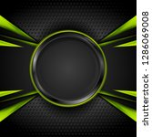 green and black glossy tech... | Shutterstock .eps vector #1286069008