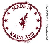 made in mainland stamp. grunge... | Shutterstock .eps vector #1286070928