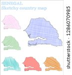 senegal sketchy country.... | Shutterstock .eps vector #1286070985