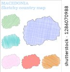 macedonia sketchy country.... | Shutterstock .eps vector #1286070988
