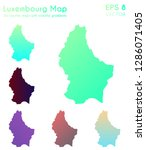 map of luxembourg with... | Shutterstock .eps vector #1286071405