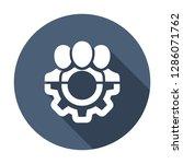 management icon. teamwork... | Shutterstock .eps vector #1286071762