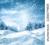 winter background of snow with... | Shutterstock . vector #1286079805